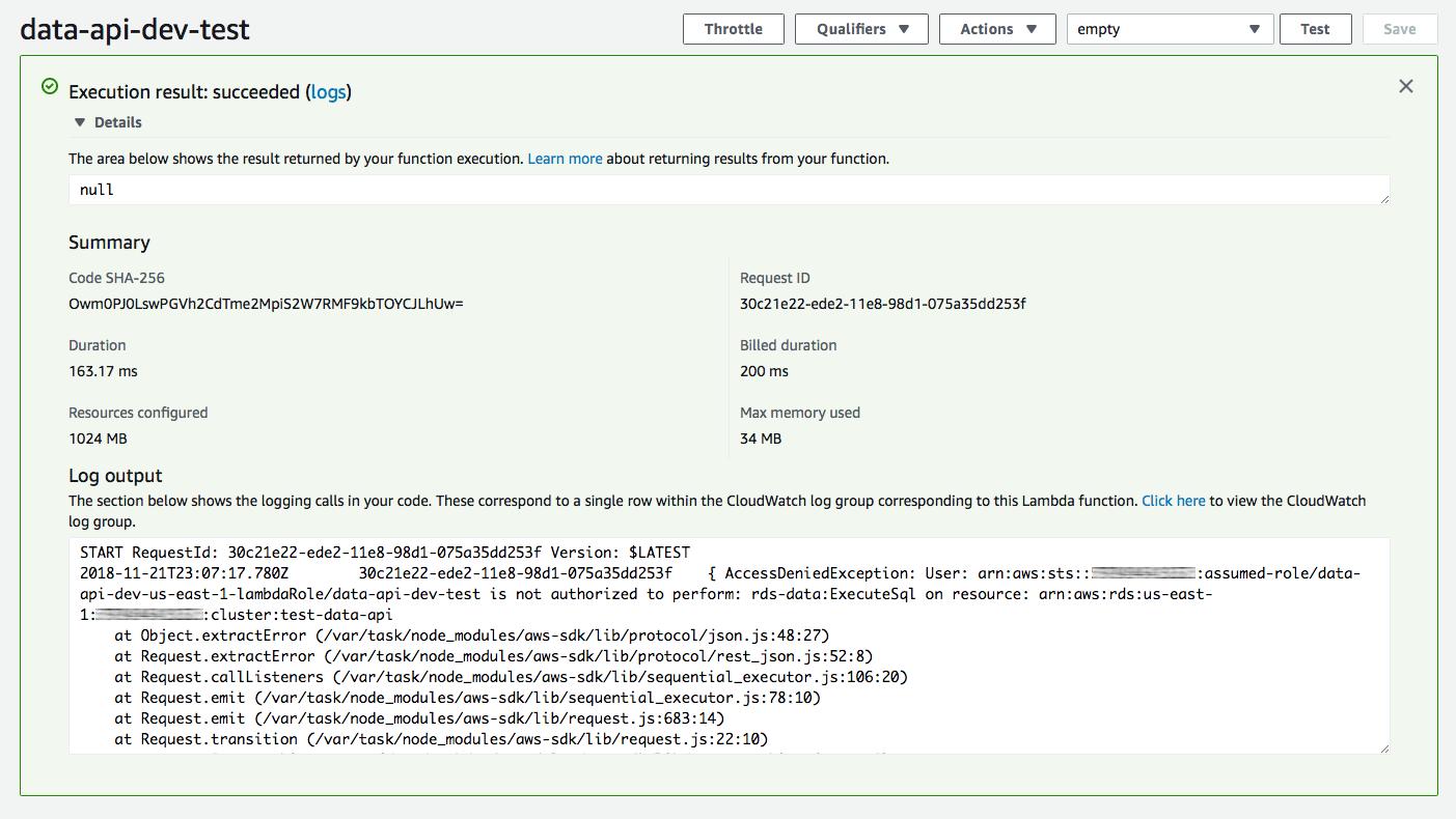 Aurora Serverless Data API: An (updated) First Look - Jeremy